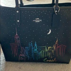 Coach New York City reversible tote